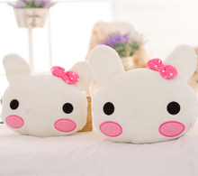 2 Pcs NEW Cute Cartoon Rabbit Car Headrest Plush Toys For Children Animals Soft Lovely Neck Pillow Plush Toys Unisex Kids Gifts(China)