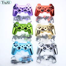 YuXi Gold Full Controller Shell Case Housing Button Kit for Sony PS3 Bluetooth Controller(China)