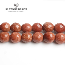 JD Stone Beads Free Shipping Faceted Brown sand beads Personalized Fashion Hand-made Jewelry Ornament(China)