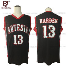 BONJEAN New Cheap Throwback Basketball Jersey James Harden 13 Artesia High School Jersey Black Stitched Retro Mens Shirts(China)