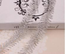 Free Shipping 5 yard Rhinestone Trim Chain, Bridal Pearl Trim Applique, Bridal Trim,Wedding Applique,Rhinestone Chain LSRT120806