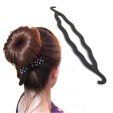 Magic Braider Hair Twist Styling Tools Clip Stick Donut Hair Bun Maker Braid Tool Black Barrette Hair Accessories Hairstyle 1PCS
