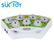 SUKIToy Kids' Fight Rat Game Machine with Electronic Handheld Design with Light & Music Funny cool game for children SK038(China)