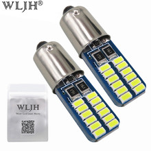 Buy WLJH 6pcs White Ice Blue Canbus Bayonet BA9S H6W LED 12V 3014 Chip Auto Car Led Lamp Interior Light Side Parking Bulb Lighting for $8.48 in AliExpress store