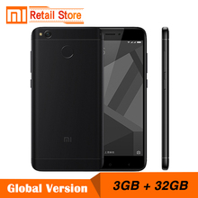 "Global Version Xiaomi Redmi 4X 3GB 32GB Mobile Phone 4 X Snapdragon 435 Octa Core CPU 5.0"" 13.0 MP 4100mAh Fingerprint ID"
