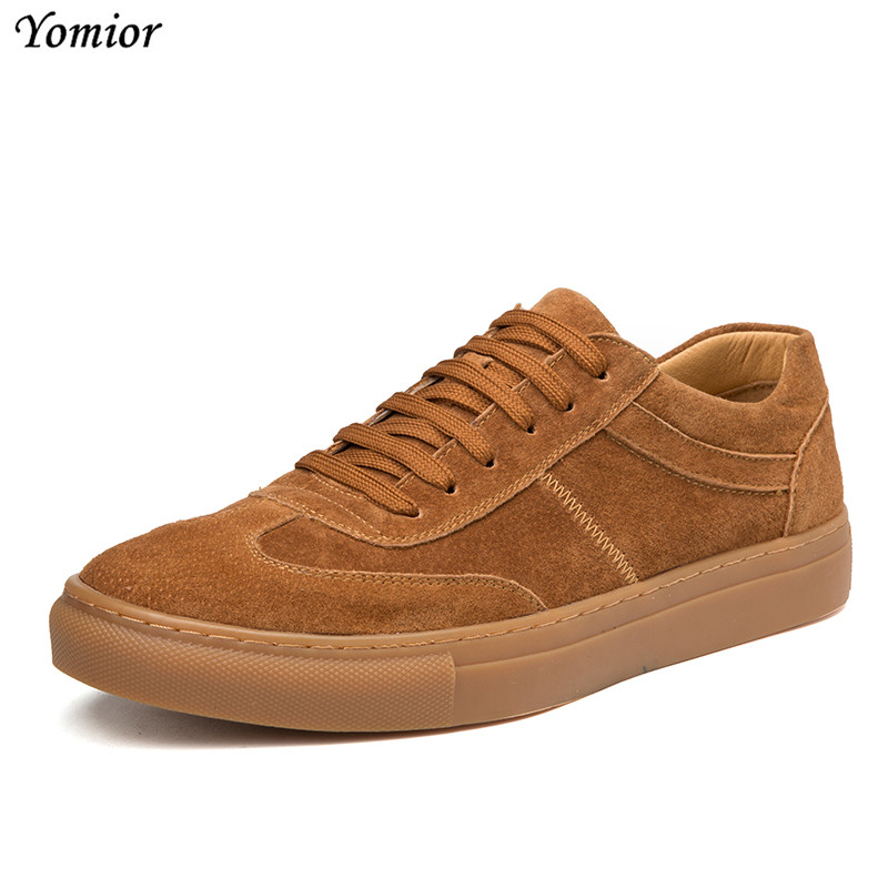 New Year Arrival Spring Comfortable Casual Shoes for Men Real Leather Shoes Mens Lace-Up Brand Fashion Flats Loafers Footwear<br>