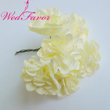 WedFavor 144pcs 4cm Glittered Artificial Chrysanthemum Handmade Mulberry Paper Flowers For Scrapbooking Wedding Cardmaking