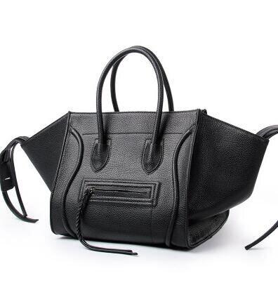 New Famous Designer Brand Luxury Women Leather Handbags Fashion Tote High Quality Trapeze Smily Clutches Bolsa Feminina<br><br>Aliexpress