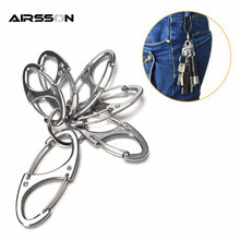 5Pcs/Lot Mini 8 Shape Portable Metal Carabiner Ring Outdoor EDC Tool Release Buckle Hook Hang Keychain Camping Hiking Snap Clip