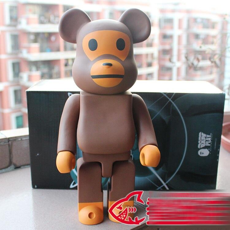 400% bearbrick Bear@brick BABY MILO BAPE Replica Art Figure as a gift for boyfriends ,girlfriends and students<br>