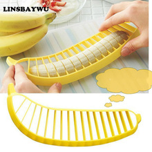 LINSBAYWU eco-friendly new Practical Banana Slicer Cutter Chopper Fruit Salad Vegetable Peeler Kitchen Tool shredders slicers(China)