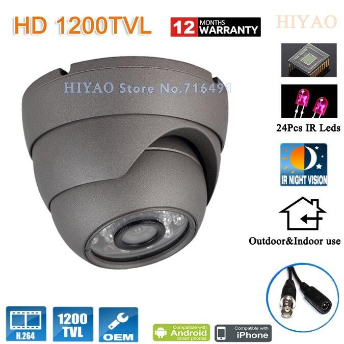 Free shipping NEW SONY CMOS HD 1200TVL Waterproof Outdoor security camera metal shell 24 Pcs IR led CCTV Cameras<br>