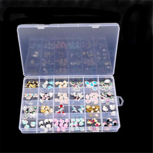 Plastic 24 Slots Adjustable Jewelry Storage Box Case Craft Organizer Beads(China)