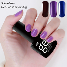 Verntion 24 Colors Gel Nail Polish Soak off Foil Adhesive LED UV Nail Art Tools Cheap Gel Polish Professional Primer Nail