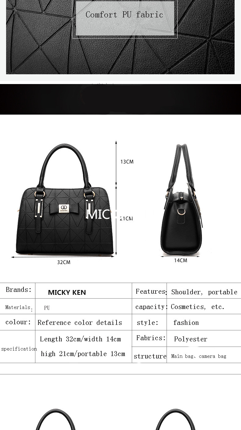 MICKY KEN Hot Sale Fashion Women Leather Handbag 2