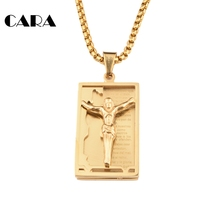 Jesus Holy Bible Necklaces Pendants Stainless Steel Spanish Bible Necklace chain Men's army card necklace Jewelry CAGF0042(China)