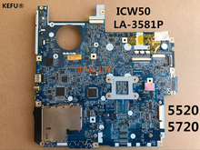 KEFU 60 day Warranty MBAK302002 LA-3581P For ACER 5520 5720 Laptop motherboard Testing Fast Ship(China)