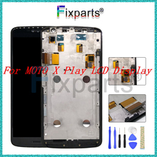 "100% Tested For 5.5"" Moto X Play LCD Display +Touch Screen Digitizer Assembly Replacement With Frame For Moto XT1561 LCD(China)"