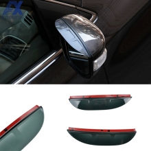 AX Door Side Wing Rear View Mirror Rain Snow Guard Visor Shade Shield Cover For 2013 2014 2015 2016 Ford Escape Kuga Ecosport(China)