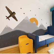 Bacaz Painted Vintage airplane 3d Cartoon 3d Wall Photo Murals Wallpaper for Kids Baby Room Large Papel Mural 3d Wall Mural(China)