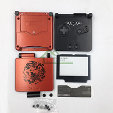Chinese Dragon Limited Edition Full Housing Shell replacement for Nintendo Gameboy Advance SP for GBA SP Game Console Cover Case