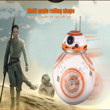 Free Shipping RC 2.4 g BB-8 Robot Remote Control BB8 Upgrade Robot Intelligent Sound RC Ball Child Gift Boy Girl Toy 17cm