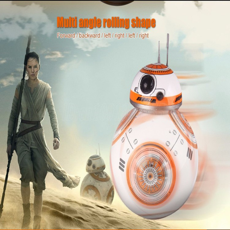 Free Shipping RC 2.4 g BB-8 Robot Remote Control BB8 Upgrade Robot Intelligent Sound RC Ball Child Gift Boy Girl Toy 17cm<br>