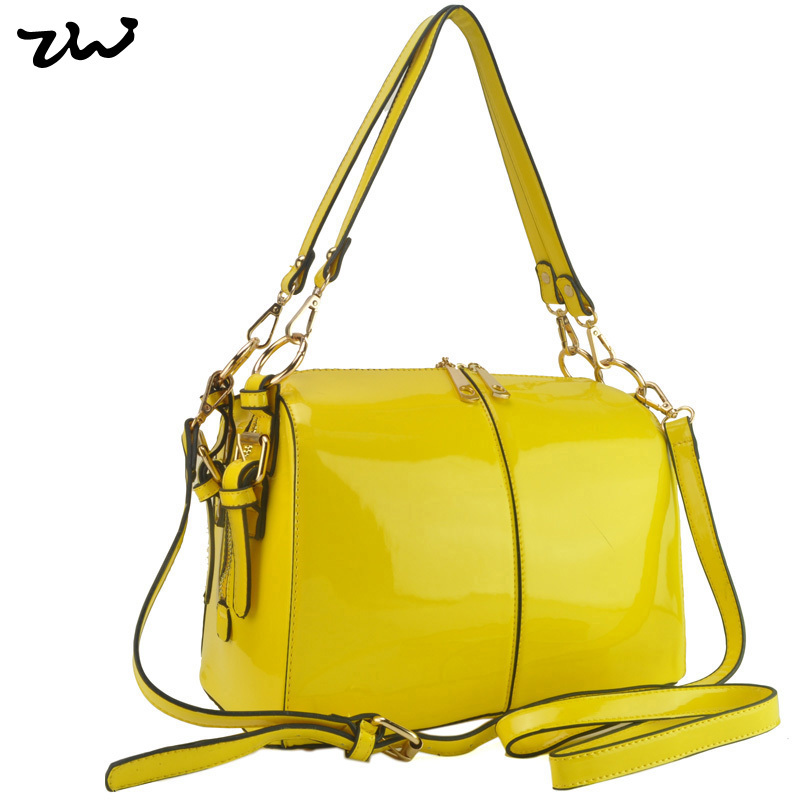 ZIWI Brand New Arrival Bright Solid Patent Bag Trunk Shape Womens Handbag Fashion Bags VK1336<br><br>Aliexpress