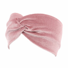 Women Fashion Hair Band Velvet Headband Twist Crossed Bow Turban Muslim Style Headwear Women Hair Accessories