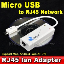 Micro USB 2.0 to RJ45 Lan Network Ethernet Adapter Card 100Mbps Asix AX8872B for Mac OS Android SmartTV Tablet Laptop Win 10 8