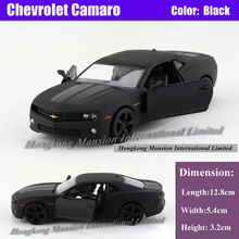 Licensed Diecast Metal 1:36 Scale Car Model For The Chevrolet Camaro Collection Alloy Model Pull Back Toys Car - Matte Black