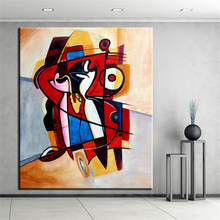 NO FRAME Printed POP CUBIC ABSTRACT Oil Painting Canvas Prints Wall Painting For Living Room Decorations wall picture art