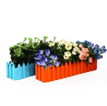Home Gargen Plastic Flower Pots Vegetable Plants Rectangular Seedlings Flowerpot Green Rural Thickening Fence Balcony Decoration(China)