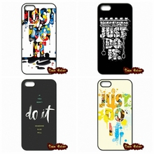 For iPhone 4 4S 5 5C SE 6 6S 7 Plus Galaxy J5 A5 A3 S5 S7 S6 Edge just do it Cell Phone Case Cover