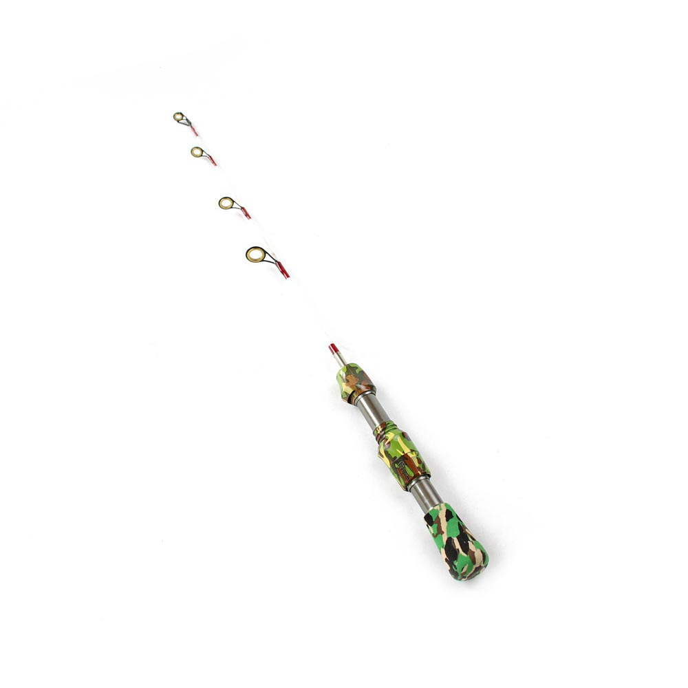 RoseWood 2-Piece Camouflage Ice Fishing Rod Travel Spinning Fishing Rod Portable Winter Short Fishing Rod (10)