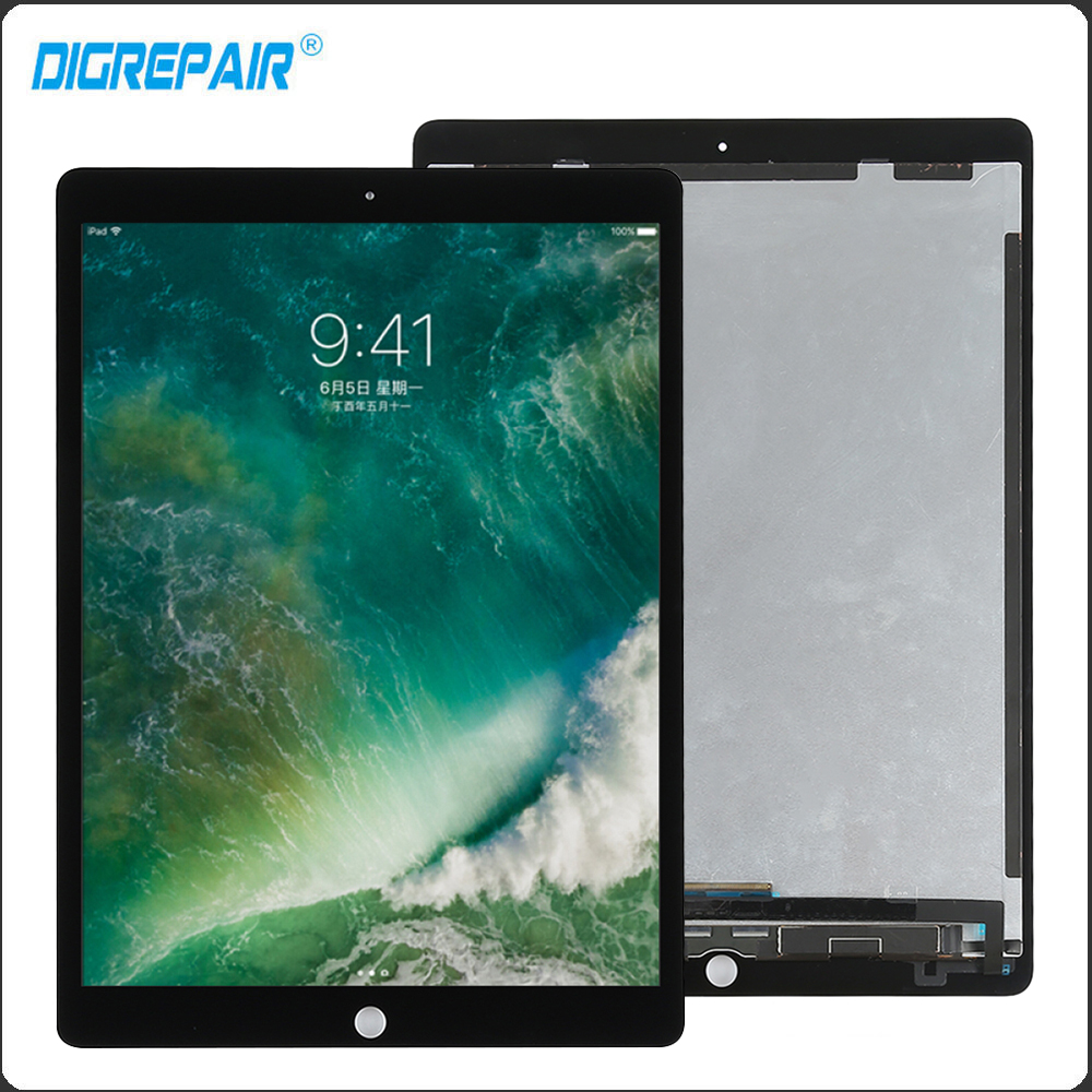 """Front Parts Touch White LCD Digitizer Assembly For Apple iPad Pro 12.9/"""" 2nd Gen"""