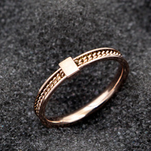 Martick Fashion Unique Woman Rings Elegant Square Design Link Chain Rings For Woman Europe Brand Jewelry R115(China)