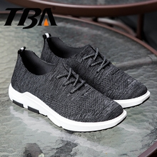 TBA Men's Sneakers Breathable Air Mesh Running Shoes Men Soft Rubber Sole Male Sport Shoes Man Classic Tenni Men'sWedge Sneakers(China)