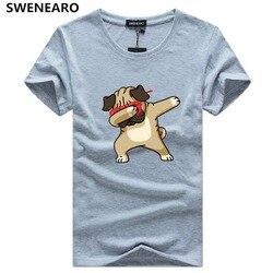 Мужская футболка с принтом собаки