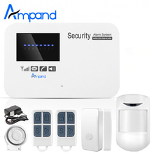 New Wireless/wired Phone SIM GSM Home Burglar Security GSM Alarm System English Russian Spansih Voice Prompt Alarm Sensor kit