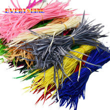 Cheap for Sale 24pcs Colorful American Indian Headdress Hair Extend Goose Feather Wedding Decorations Elegant Feathers IF006