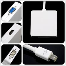 Hot 3 in1 Thunderbolt Mini DP Displayport to HDMI DVI VGA Adapter Cable for apple MacBook Pro for Mac Book Air(China)