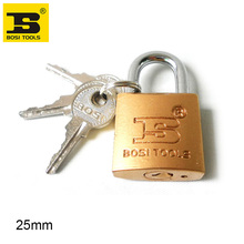 BOSI 25mm case bag padlock master lock with 3pc keys