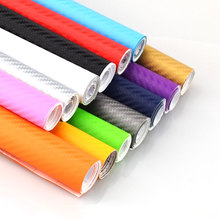 Buy 127cmx10cm Waterproof Car Stickers 3D Car Carbon Fiber Vinyl Film Sheet Wrap Roll Auto Car DIY Decor Sticker Paper Car Styling for $1.17 in AliExpress store