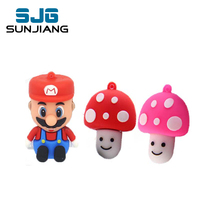 Super Mario mushroom usb flash drive 4GB 8GB 16GB 32GB 64GB pen drive genuine Cartoon lovely pendrive creative personality gift(China)