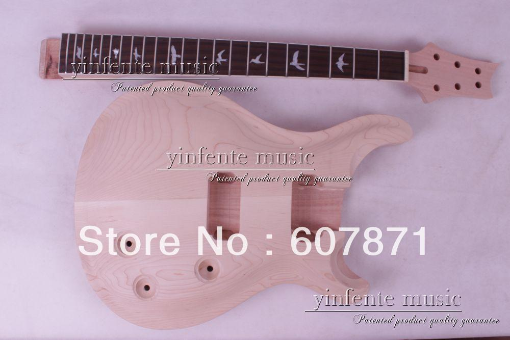1 pcs     Unfinished electric guitar body    mahogany made maple top<br><br>Aliexpress