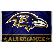 7 Color Baltimore Ravens Allegiance Helmet Team American Outdoor Indoor Football College Flag 3X5 Custom USA Any Hockey Flag