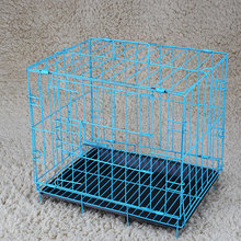 2 Door Pet Metal Collapsible Cage Crate Kennel with Plastic Tray Black