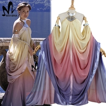 2017 star wars costume Revenge of the Sith Padme Amidala lake dress Star Wars Padme Amidala costume cosplay dress custom made(China)