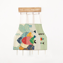 1pcs 56*68cm Adult Child Kitchen Apron Fashion Cotton Linen Cloth Cooking Aprons Kit Bib Restaurant Home Personality Pattern(China)